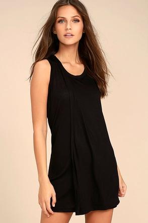 Simply Fantastic Black Shift Dress 1