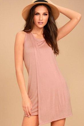 Simply Fantastic Blush Pink Shift Dress 1