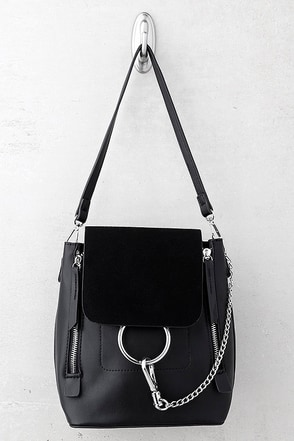 Sidewalk Stunner Black Backpack 1