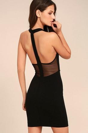 Dance Night Black Bodycon Dress 1