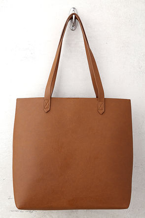 Perfect Simplicity Brown Tote 1