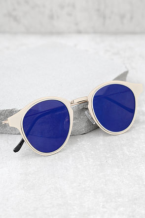 Spitfire Warp Gold and Blue Sunglasses 1