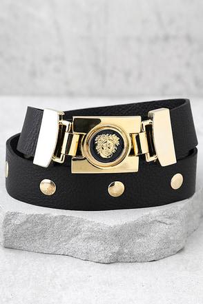 Vanessa Mooney Misfit Black Leather Belt 1