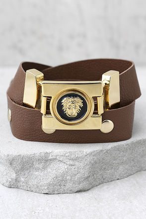 Vanessa Mooney Misfit Brown Leather Belt 1