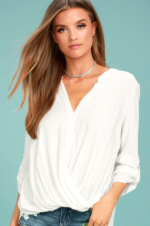 Making a Difference White Button-Up Top 1