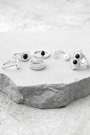 Mystic Beauty Silver Ring Set 1