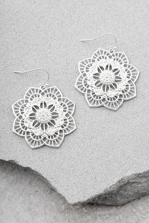 Morning Blossom Silver Earrings 1