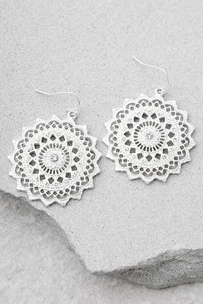 Mandala Bay Silver Earrings 1