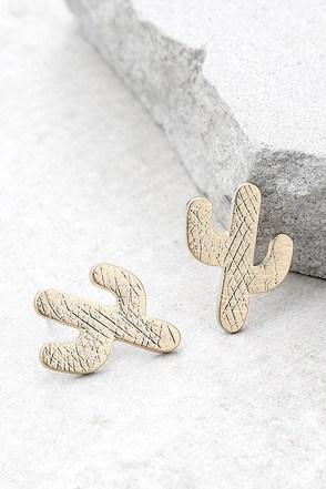 Desert Dance Gold Earrings 1