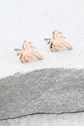 Under the Sun Rose Gold Earrings 1