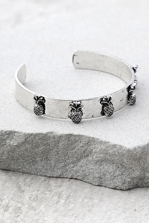 Tropical Treasures Silver Cuff Bracelet 1