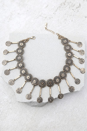 Masquerade Magic Gold Choker Necklace 1