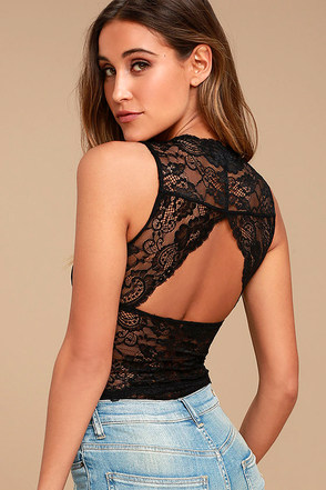 Heaven Sent Black Lace Bodysuit 1