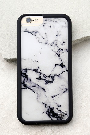 Wildflower Marble White iPhone 6 and 6s Case 1