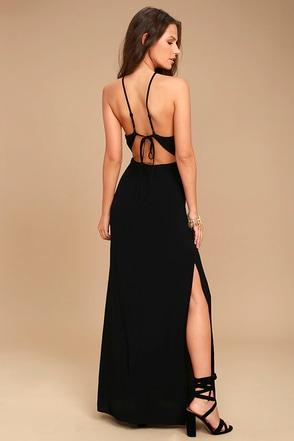 ASTR the Label Petra Black Lace Maxi Dress 1