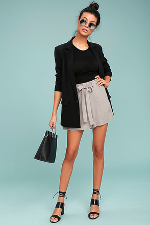 Black Swan Toryn Grey Shorts 1