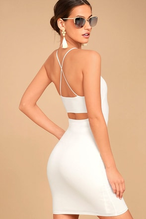 Looking Fine White Bodycon Dress 1