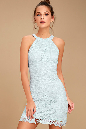 Love Poem Light Blue Lace Dress 1