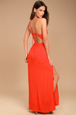 ASTR the Label Petra Red Lace Maxi Dress 1