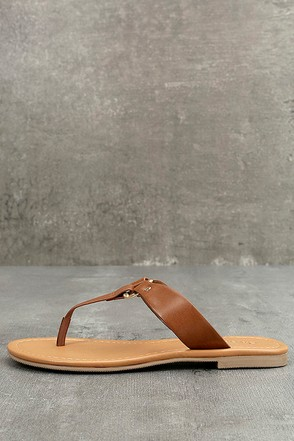 Alessia Tan Thong Sandals 1
