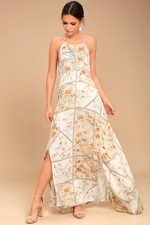 Somedays Lovin' A Little Sunshine Cream Floral Print Maxi Dress 1