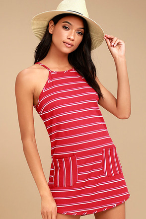 Lucy Love House Party Red Striped Dress 1