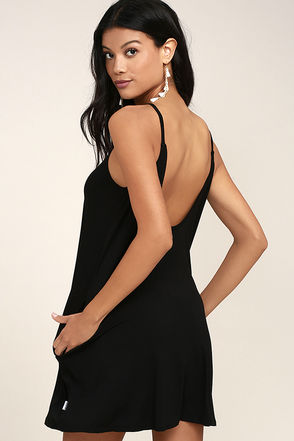 RVCA Pipe Dream Black Swing Dress 1