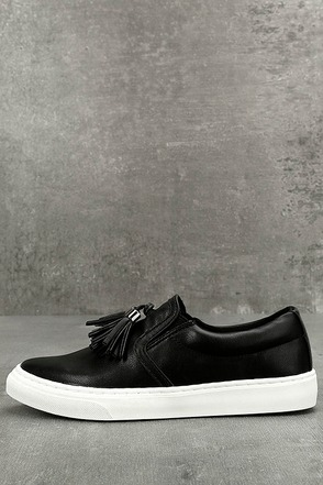 Abby Black Slip-On Sneakers 1