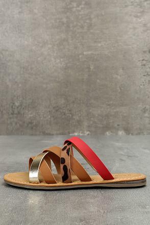 Angelique Leopard Print Sandals 1