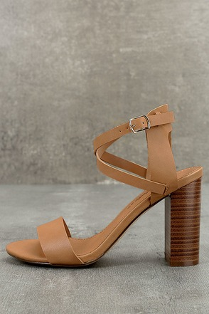 Madelaine Natural High Heel Sandals 1
