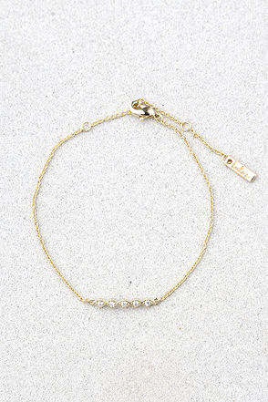 A Love to Believe In Gold Rhinestone Bracelet 1
