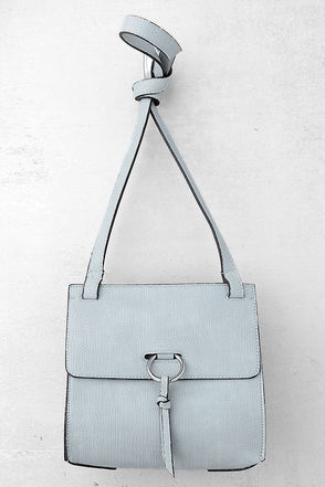 One and Ony Light Grey Crossbody Purse 1