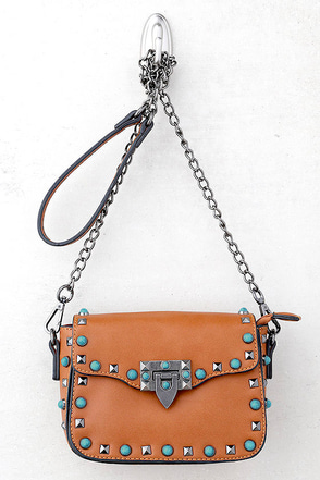 Taos Brown Studded Purse 1
