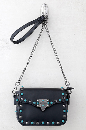 Taos Black Studded Purse 1