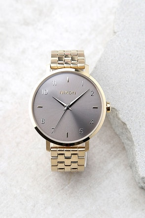 Nixon Arrow Gold and Taupe Watch 1