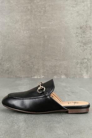 Chantae Black Loafer Slides 1