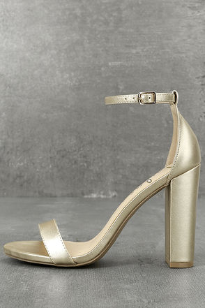 Taylor Gold Ankle Strap Heels 1