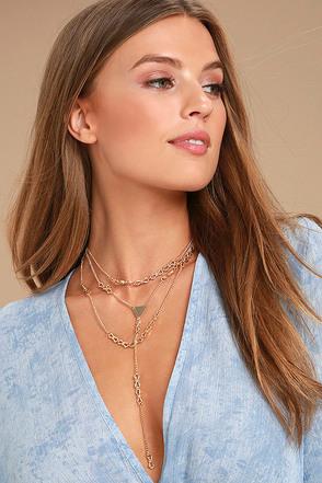 Julita Gold Layered Choker Necklace 1