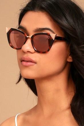 Trendy Cat Eye Sunglasses Tortoise Sunglasses Pink