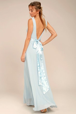 That Something Special Light Blue Maxi Dress 1