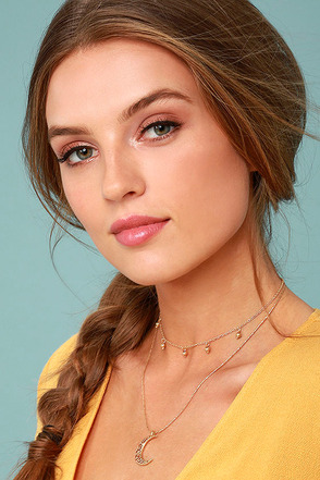 Celestial Charm Gold Layered Necklace 2