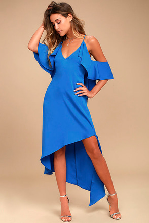Adelyn Rae Oliana Royal Blue Midi Dress 1