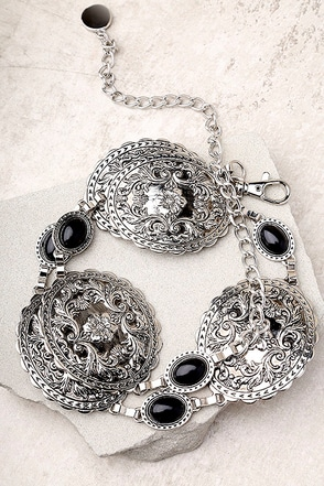 Lovestrength Grace Concho Silver Chain Belt 2