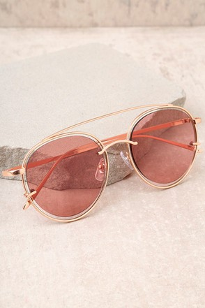 Such a Looker Rose Gold and Pink Mirrored Sunglasses 2