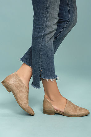 Karmen Taupe D'Orsay Pointed Toe Booties 4