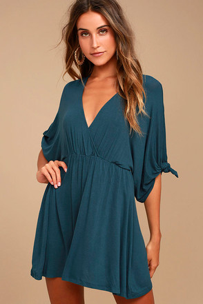 Bewitching Teal Blue Dress 2