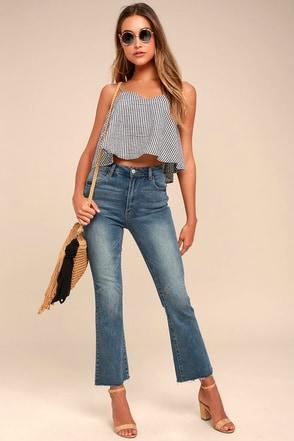 My Destiny Medium Wash Flare Jeans 1