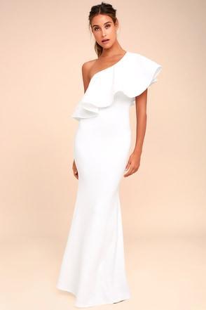 So Amazed White Strapless Maxi Dress 1