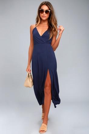 Time to Tango Navy Blue Midi Dress 1