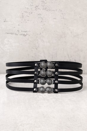 Lovestrength Presidio Black Leather Waist Belt 1
